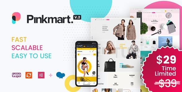 Pinkmart v3.0.3破解版-WooCommerce的AJAX主题插图