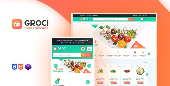 Groci v2.1.3 – WordPress有机食品和杂货市场主题插图