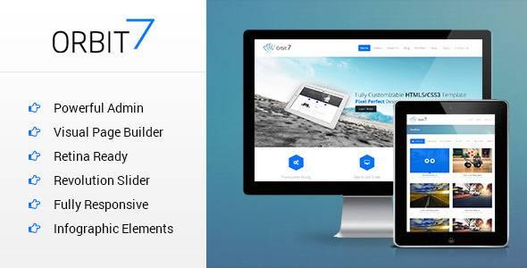 WordPress主题 Orbit7 高级多用途企业展示高级模板