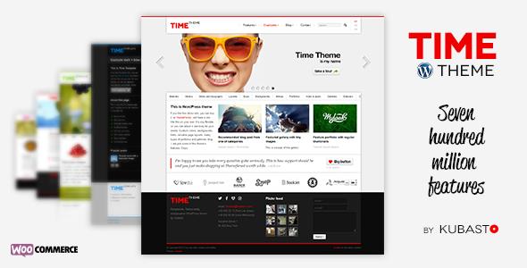 WordPress主题 Time 自适应企业多用途带电商汉化主题[更新至v.4.1]