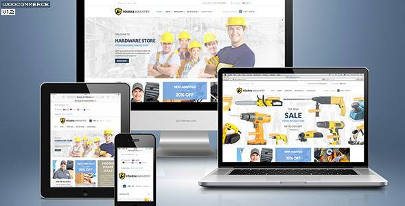 WordPress主题 456Industry 工程建设/基建维修/建筑/装修商店模板[更新至v1.4]