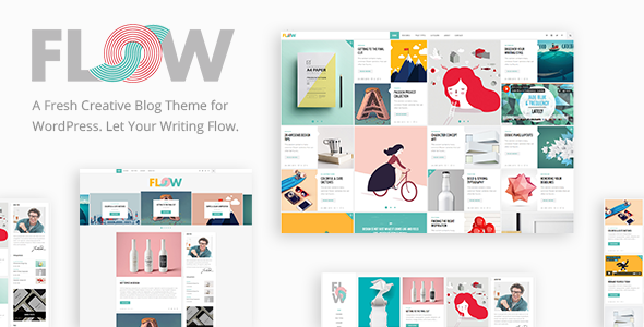WordPress主题 Flow 响应式新型创意博客主题[更新至v1.3.6]