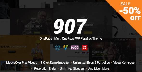 WordPress主题 907 响应视差单页多页作品展示模板[更新至v4.0.23]