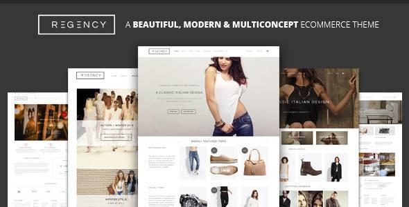 WordPress主题 Regency 简单时尚在线销售电子商务模板[更新至v1.3.6]