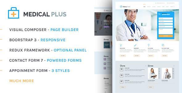 WordPress主题 Health Plus 健康医疗/医学主题中文版、汉化版[V1.2]
