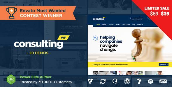 WordPress主题 Consulting 企业网站/商务金融企业业务模板[更新至v4.1.3]