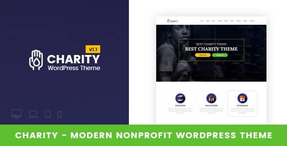 WordPress主题 Charity 非营利型慈善高度灵活模板